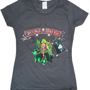 Prima Nocta T-shirt 'Flag of the Greenman' grey (LADIES fit)