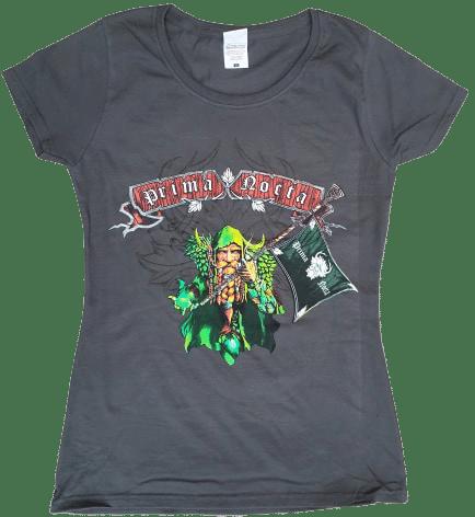 Prima Nocta T-shirt 'Flag of the Greenman' grey (LADIES fit)